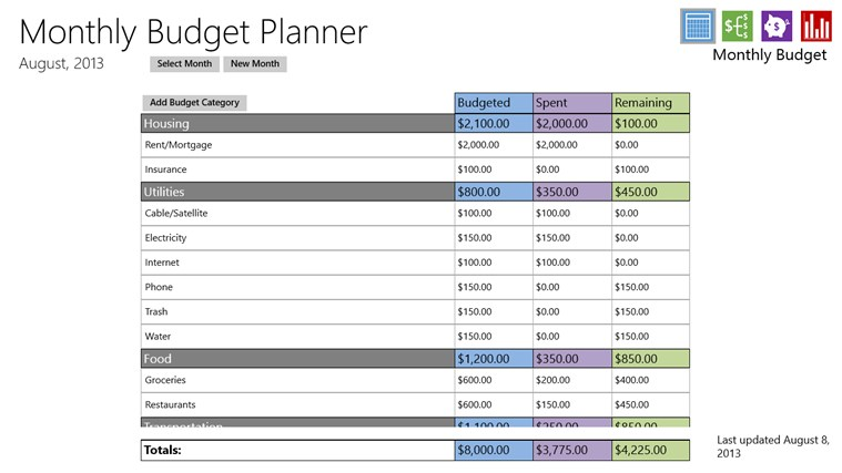 budget calculator download