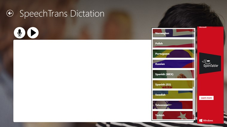 SpeechTrans Dictation screen shot 2