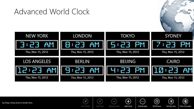 Advanced World Clock app for Windows in the Windows Store: apps.microsoft.com/windows/en-us/app/advanced-world-clock/57822e8d...