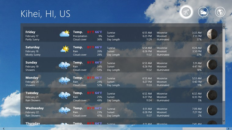Elements Weather Forecast screen shot 0