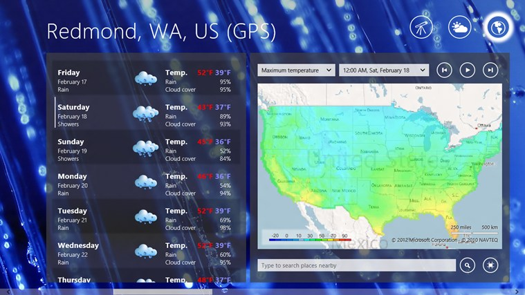 Elements Weather Forecast screen shot 2