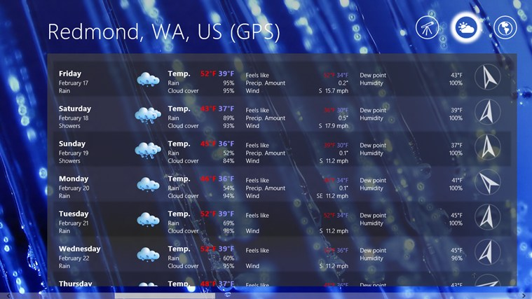Elements Weather Forecast screen shot 6
