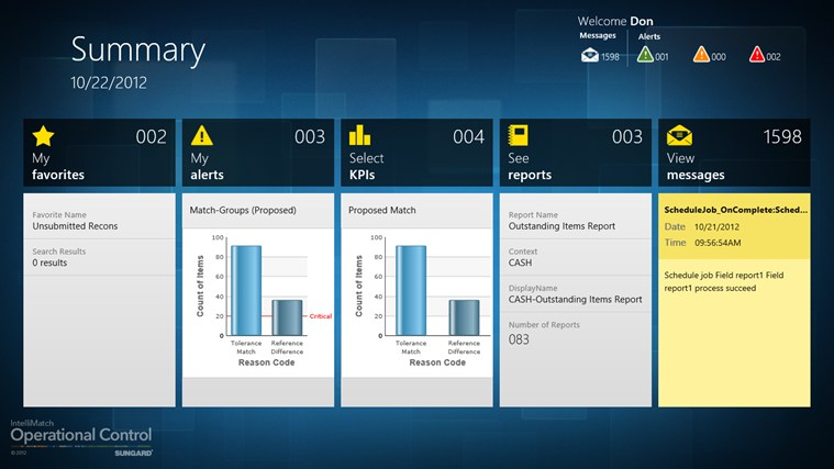 IntelliMatch Operational Control screen shot 0