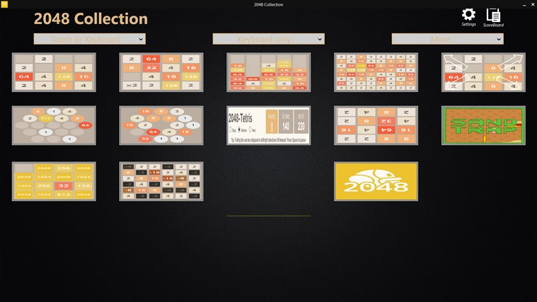 2048 Collection: 12 Game Boards screen shot 0