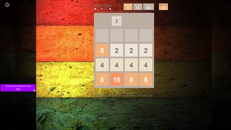 2048 Collection: 12 Game Boards screen shot 8