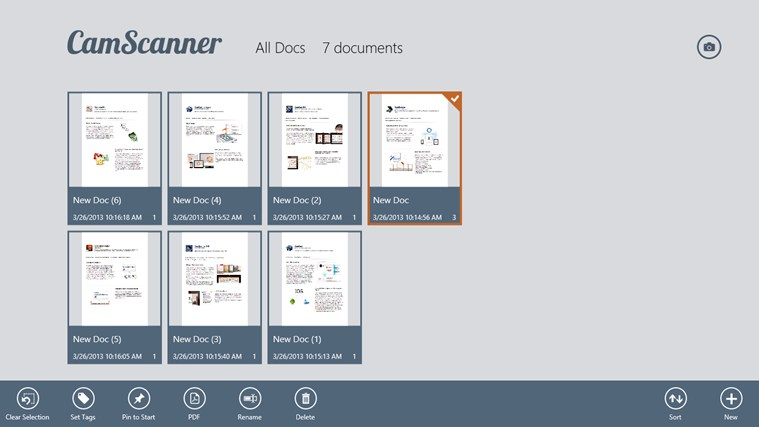 CamScanner for VAIO app for Windows in the Windows Store