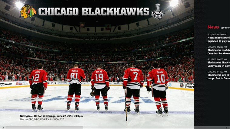 Chicago Blackhawks screen shot 0