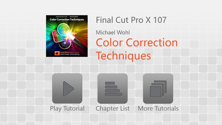 Final Cut Pro X - Color Correction ภาพหน้าจอ 0