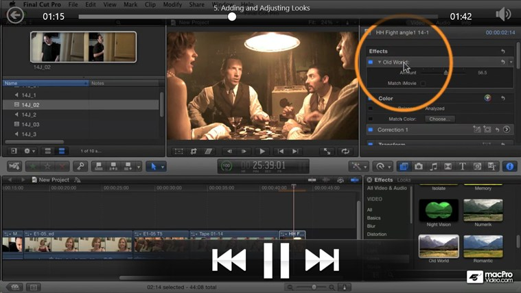 Final Cut Pro X - Color Correction ภาพหน้าจอ 2