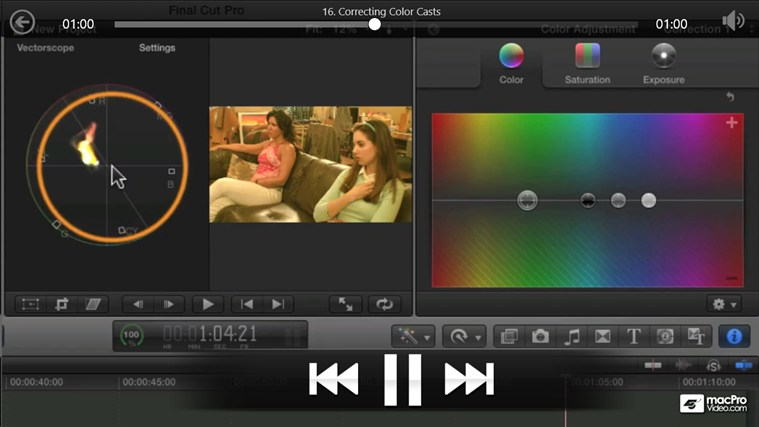 Final Cut Pro X - Color Correction ภาพหน้าจอ 4