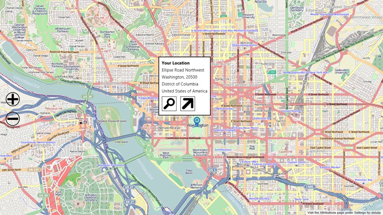 Open Map screen shot 2