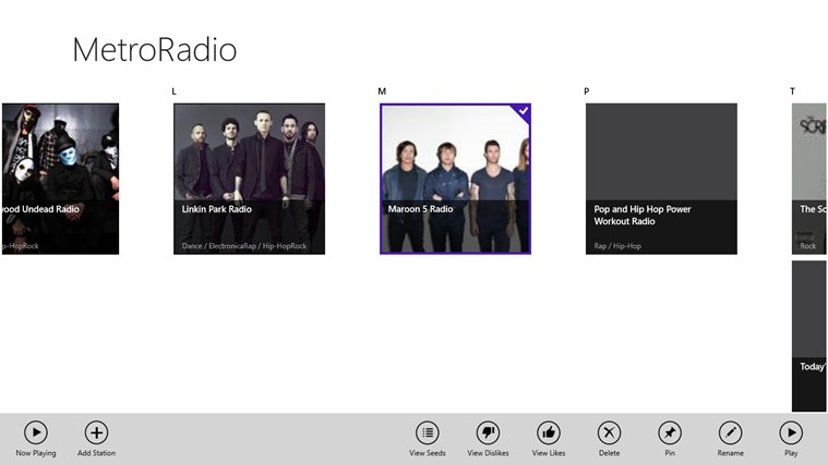 MetroRadio screen shot 2