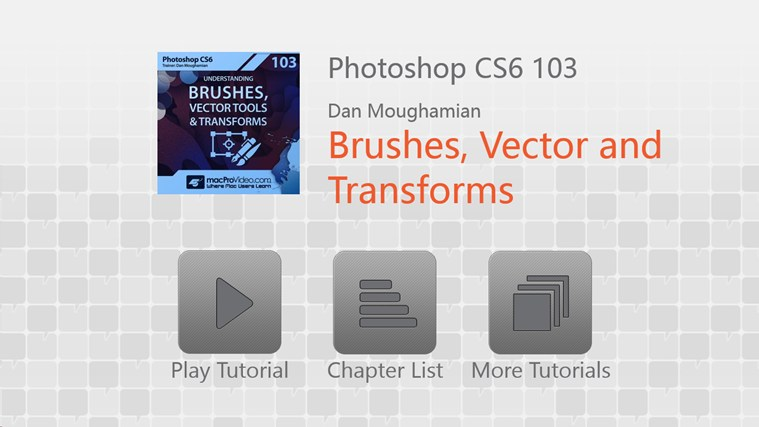 Photoshop CS6 - Brushes, Vector Tools & Transforms schermafbeelding 0