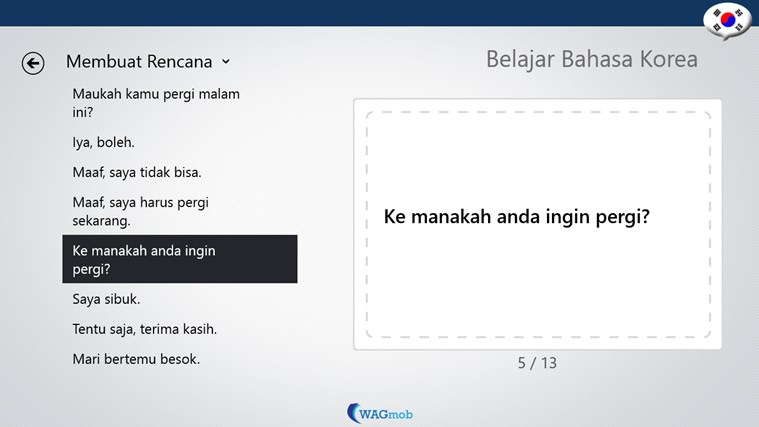Belajar Bahasa Korea-Buku Frase screen shot 4