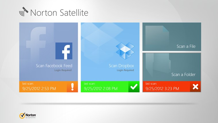 Norton Satellite Top Windows 8 Apps