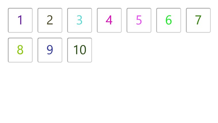 Flash Cards - Numbers 1 - 10 screen shot 0