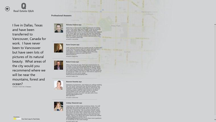 Real Estate Q&A screen shot 2