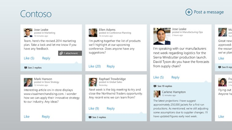 Yammer screen shot 0