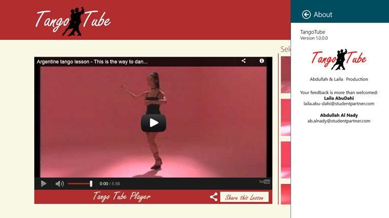 TangoTube screen shot 2