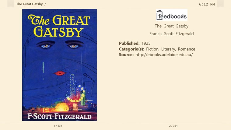 Fiction Book Reader screen shot 2
