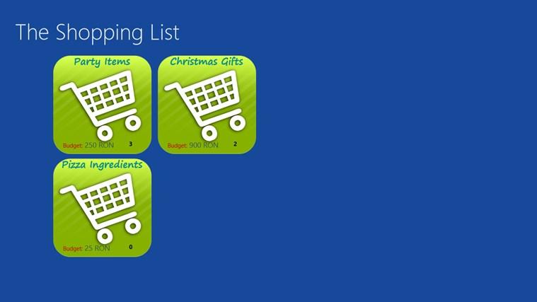 The Shopping List screen shot 0