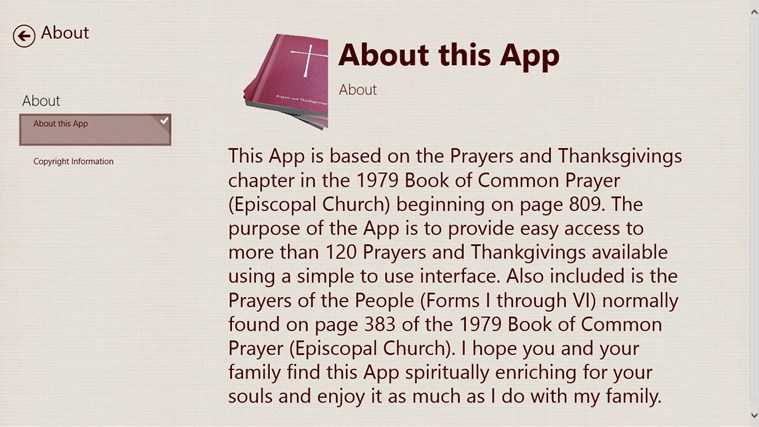 Prayers and Thanksgivings screen shot 4