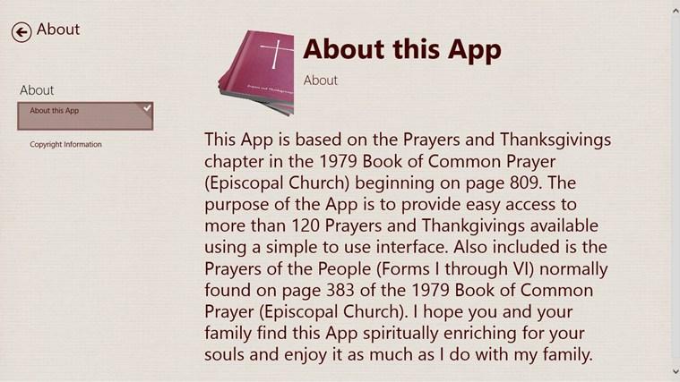 Prayers and Thanksgivings screen shot 4