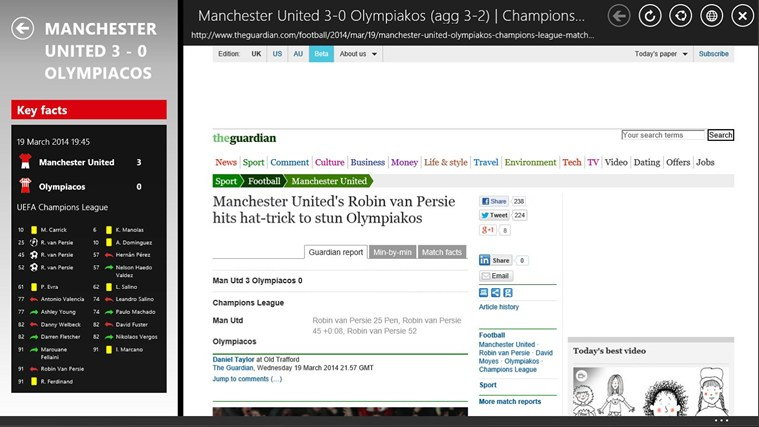 1st4Fans Manchester United edition screen shot 2