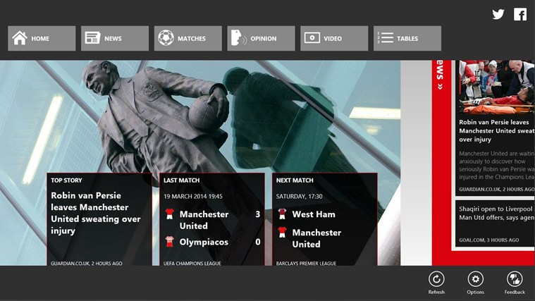 1st4Fans Manchester United edition screen shot 4