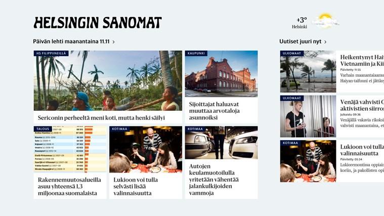 Helsingin Sanomat näyttökuva 0