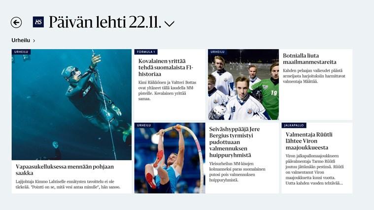 Helsingin Sanomat näyttökuva 2