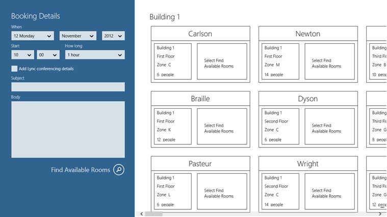 Room booking app for windows in the windows store Room dimensions app