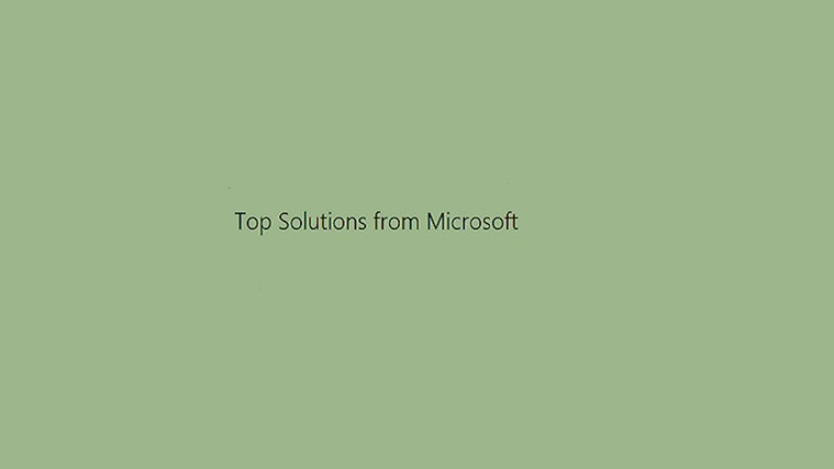 Microsoft Top Solutions screen shot 0
