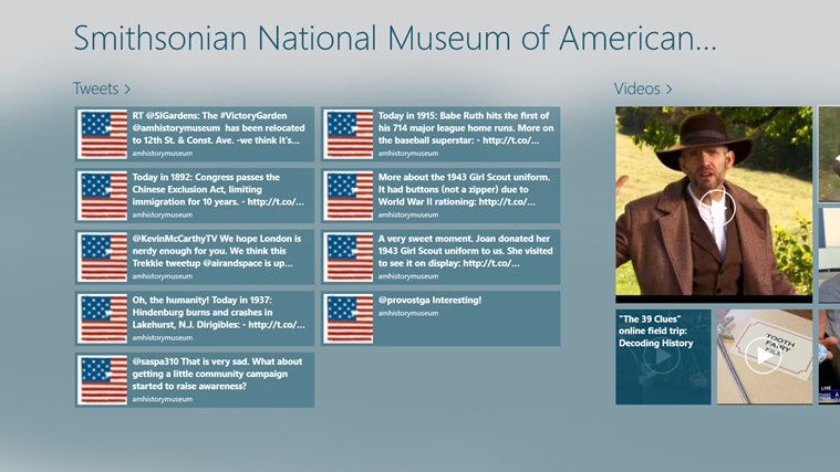 National Museum of American History Hub screen shot 0