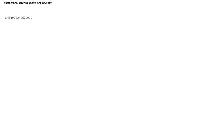 Root Mean Square Error Calculator screen shot 2