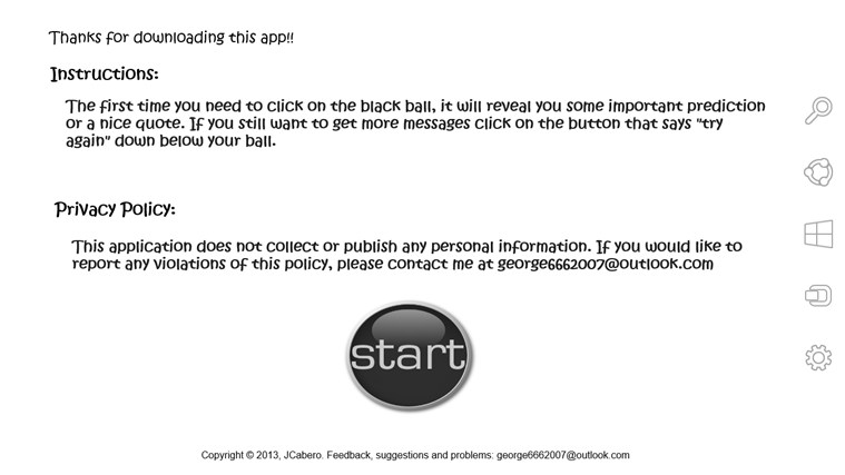 black ball app screen shot 2