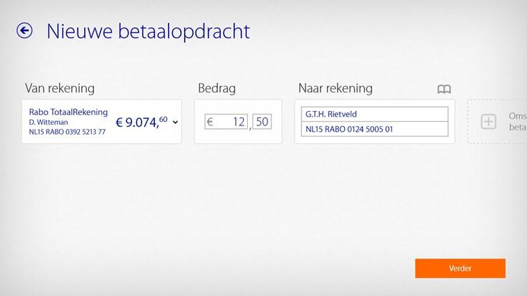 Rabo Bankieren schermafbeelding 2