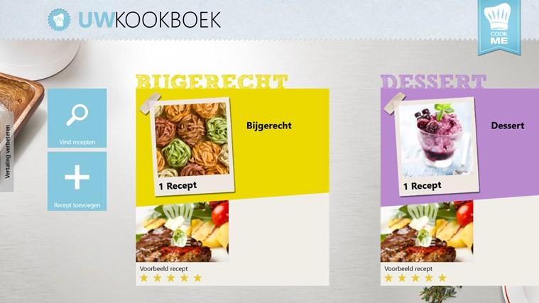 CookMe - Jouw Kookboek schermafbeelding 0