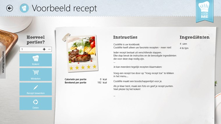 CookMe - Jouw Kookboek schermafbeelding 2
