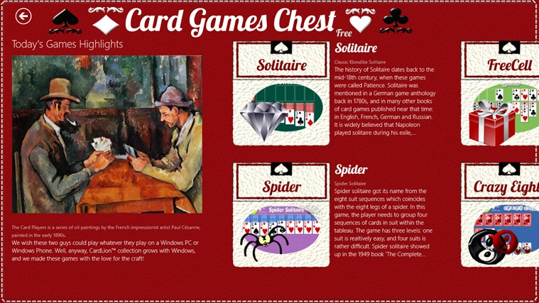 Card Games Chest screen shot 6