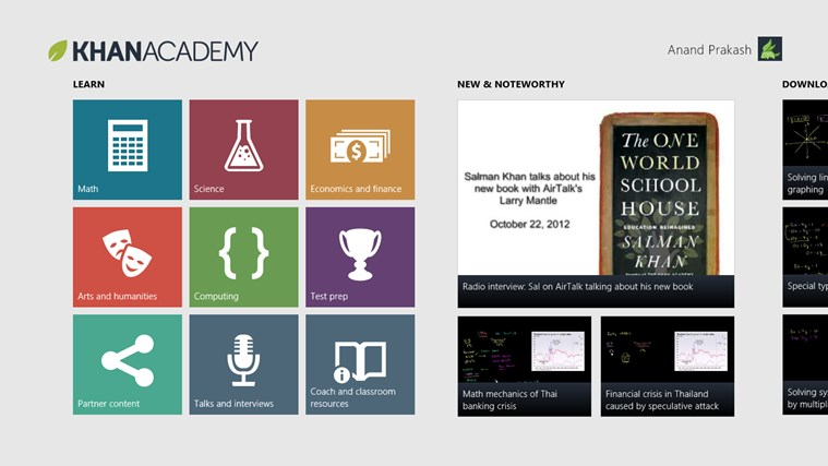 Khan Academy screen shot 0