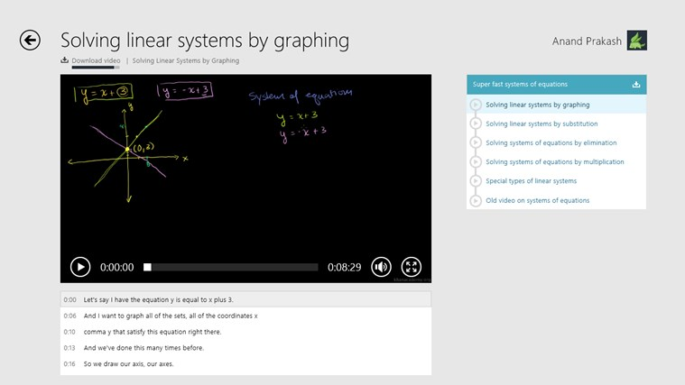 Khan Academy screen shot 2
