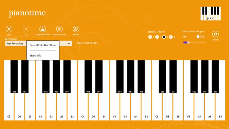 Piano Time Pro screen shot 2