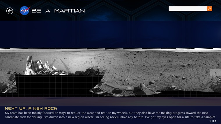 NASA Be A Martian screen shot 2