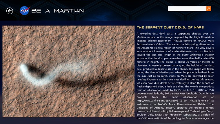 NASA Be A Martian capture d'écran 4