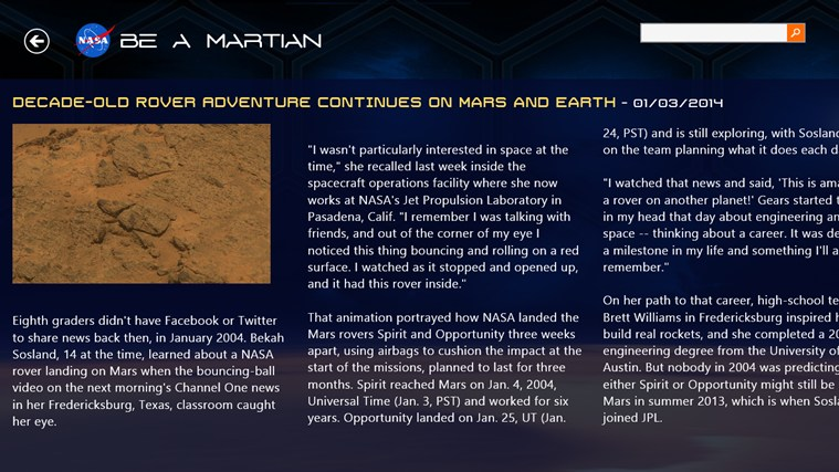 NASA Be A Martian capture d'écran 6