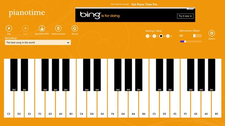 Piano Time snímek obrazovky 0