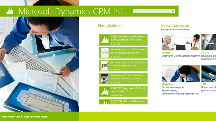 Microsoft Dynamics CRM Infocenter Screenshot 0