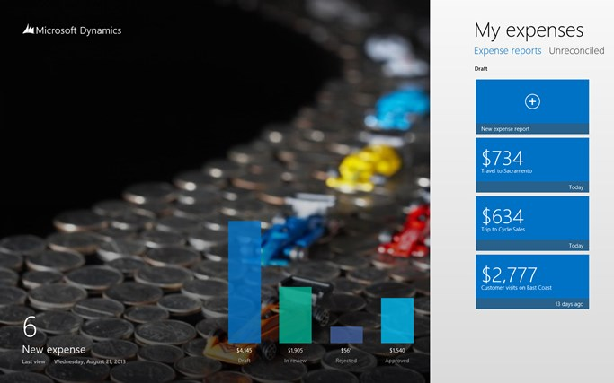 Dynamics AX 2012 Expenses screen shot 0