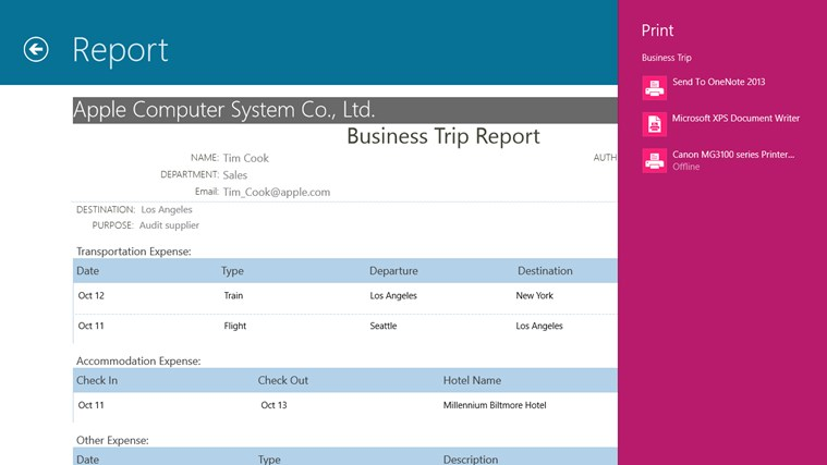 Business Trip screen shot 6